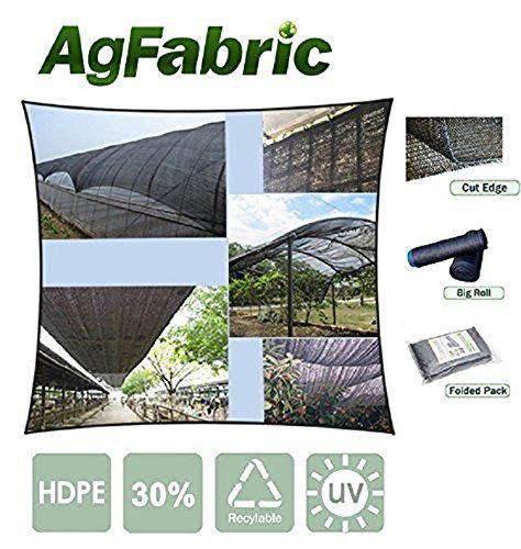 Pond Plants Shade (Agfabric 50% Sunblock Shade Cloth With Grommets 12x20ft Black for Plant Cover Greenhouse,Barn,Kennel, Pool, Pergola or Carport)