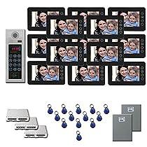 Video Entry Intercom System 13 seven inch color monitor door entry