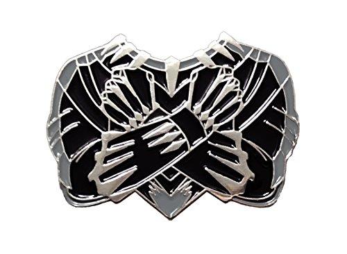Balanced Co. Black Panther Enamel Pin Wakanda Forever Pin ()