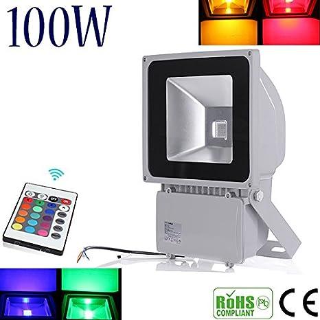 1x Foco Proyector LED 100W RGB, 10000LM alto brillo color de ...