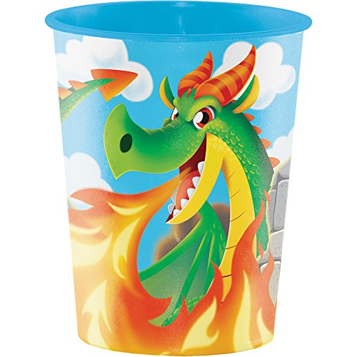 Creative Converting Plastic Keepsake Cups, Dragon (12-Count) - 324405 (Dragon Keepsake)