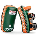 YOKKAO Leather Curved Muay Thai Kicking Pads for