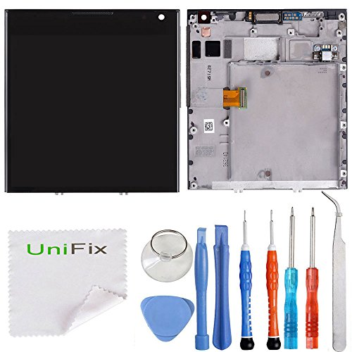 Unifix LCD Display + Touch Screen Digitizer Frame Replacement Assembly for Blackberry Passport Q30 + Toolkit