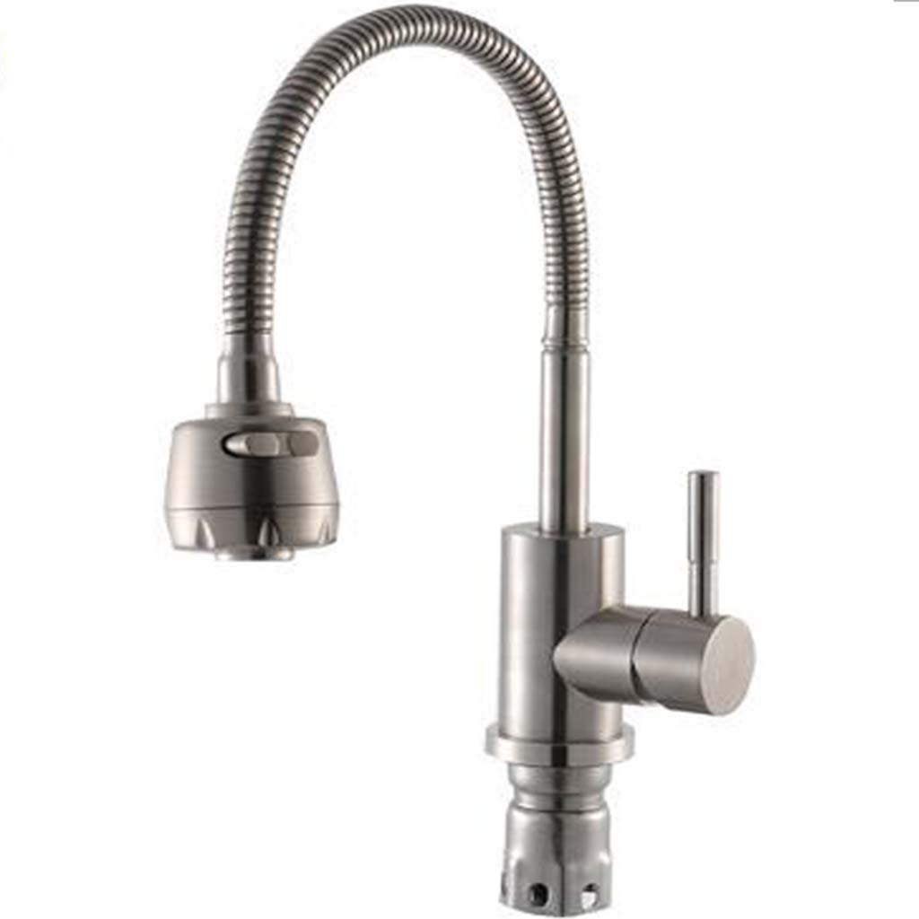 Telescopic Cooling Hot Water Faucet 360 Can Turn To Kitchen Washing Basin Dual-purpose Faucet Freely.