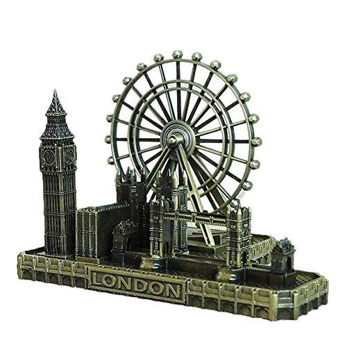 Paris London Big Ben Tower Bridge Church Architecture London Skyline Collection Building Statue Model