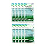 Green TePe Interdental Brushes 0.8mm - 10 Packets of 8 (80 Brushes)