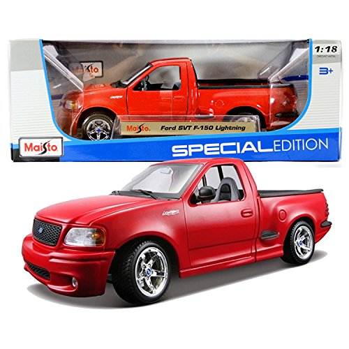 Maisto Year 2014 Special Edition Series 1:18 Scale Die Cast Car Set - Red Color Pick-Up Truck FORD SVT F-150 LIGHTNING (Car Dimension: 9-1/2 x 4 x 3-1/2) (Svt Lightning Truck)