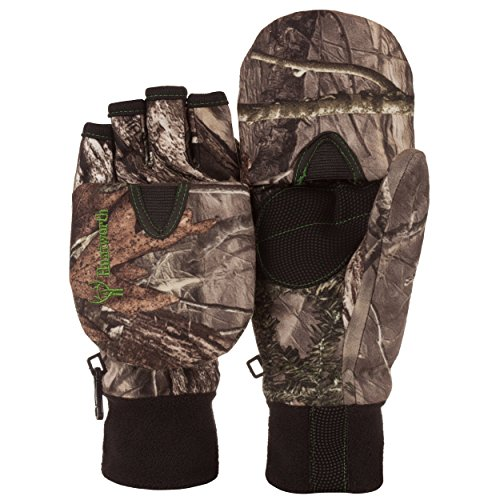 Huntsworth Youth HIDD'N Camo Extreme Cold Kids Pop Top Mitten Glove (Small 4-5 Years Old)