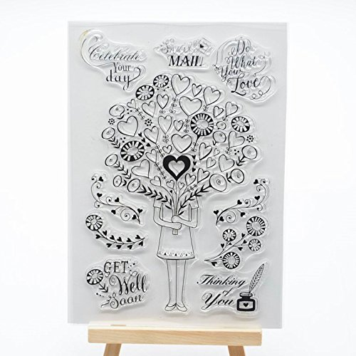 - Welcome to Joyful Home 1pc Heart Girl Clear Stamp for Card Making Decoration and Scrapbooking