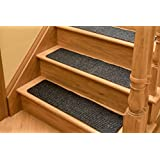 non slip carpet stair treads set of 13 premium charcoal non skid indoor treads for wood stairs 30 inch x 8 inch