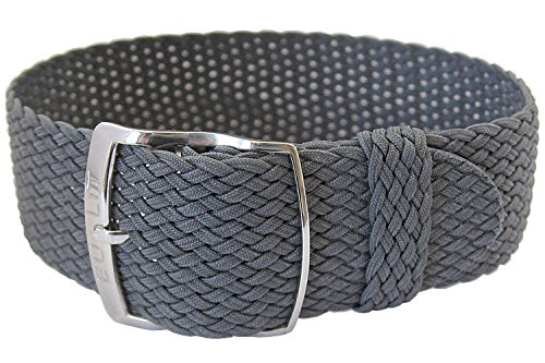 Eulit Panama 20mm Grey Perlon Watch Strap
