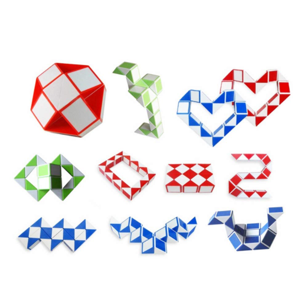 ZHONGLI Zauberw/ürfel Snake Shape Twist Puzzle Spielzeug Party Bag Fillers Party Favors f/ür Kinder