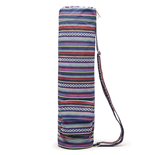 Review Elenture Full-Zip Exercise Yoga Mat Carry Bag with Multi-Functional Storage Pockets (Multicolor)
