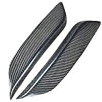 RUNMADE Black Carbon Fiber Headlight Eyelids Covers for 2003-2008 Nissan 350Z Fairlady Z Z33 (Pack of 2)