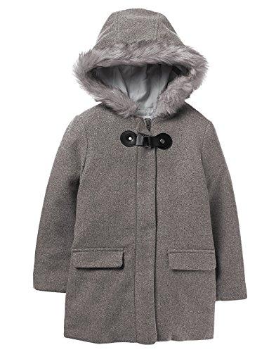 Crazy 8 Girls Little Long Sleeve Grey Hoodie Buckle Coat