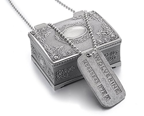 Wolverine X-men Dog Tag Pendant & Box