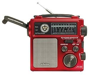 Eton FR300 Emergency Crank Radio Metallic Red (Discontinued by Manufacturer)