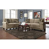 Serta Copenhagen 2 Piece Sofa Set in Vanity Fabric