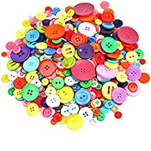 Dshengoo 700 Pieces Resin Buttons Assorted Colors and Shapes Buttons for DIY Crafts Sewing Decorations, 2 Holes and 4 Holes