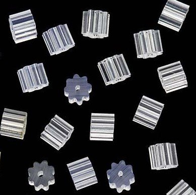 1000PCS Flexible Tube Earring Back Stoppers 3x3mm