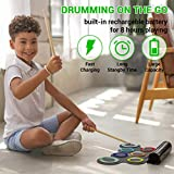 Paxcess 7 Pads Electronic Drum Set, Roll-Up Drum