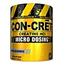 CON-CRET Creatine HCI Micro-Dosing Pre Workout Powder for Muscle Building, Endurance, and Recovery, 48 Servings, Unflavored