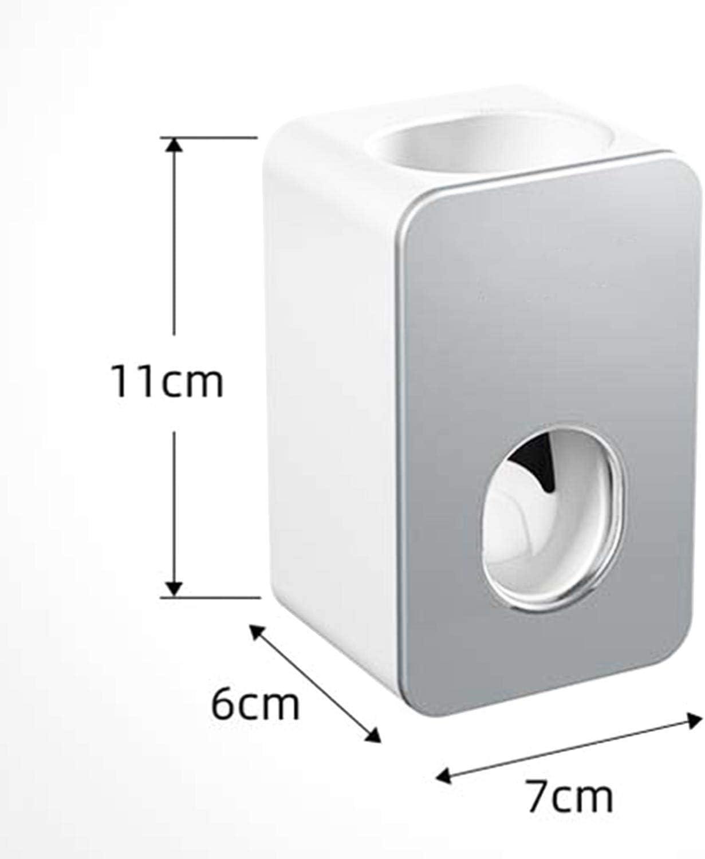 Filetto adattivo per dentifricio Montaggio a Parete//Installazione Non cingolata//Impermeabile VICKSONGS Distributore di dentifricio Automatico Grigio