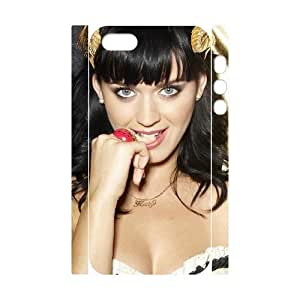 QSWHXN Cell phone Protection Cover 3D Case Katy Perry For Iphone 5,5S