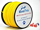 20 Gauge Heavy Duty Superior Pro Dog Fence Wire 1000 Ft Continuous Spool by Monell Pets
