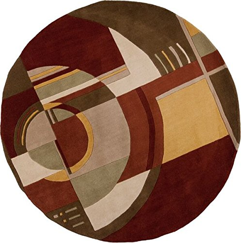 KAS Oriental Rugs Signature Collection Art Deco Round Area Rug, 5' x 6