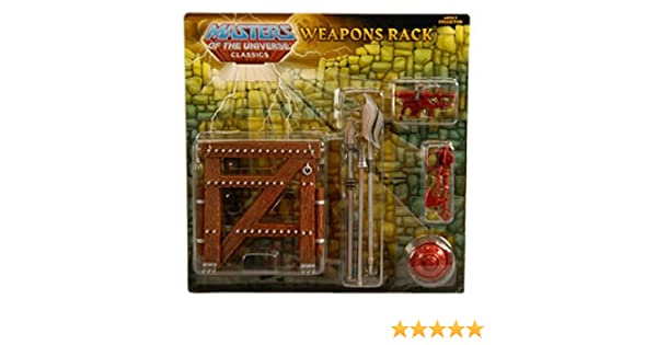 Masters of the Universe Classics Heman Exclusive Weapons Rack