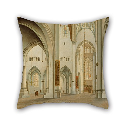 [Oil Painting Saenredam, Pieter Jansz. - The Interior Of St. Bavo, Haarlem Cushion Cases 20 X 20 Inches / 50 By 50 Cm Gift Or Decor For Girls,father,wife,car Seat,dinning Room,floor - Each] (Thing 1 And Thing 2 Costumes Spirit Halloween)