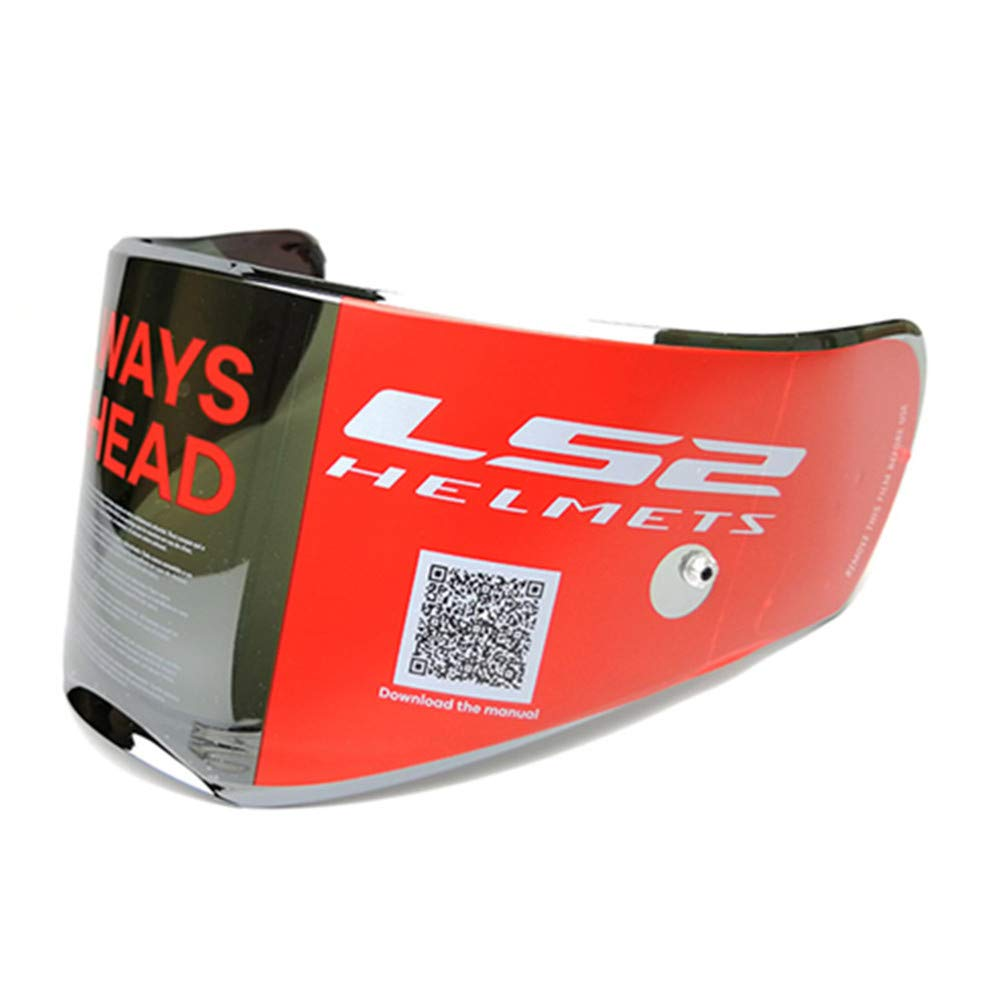 LS2 Breaker Helmets Visor Model FF390 Anti-Scratch Replacement Face Shield With Pinlock (Chrome Silver)