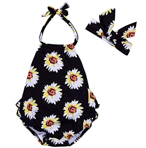 d1fcfd611cc7 Newborn Baby Floral Lace Bodysuit Romper One Piece Jumpsuit Sunsuit ...