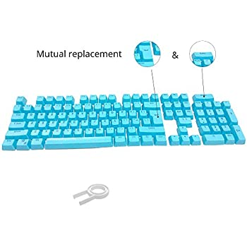 Amazon com: Rubber Gaming Backlit Keycaps Set - for Cherry