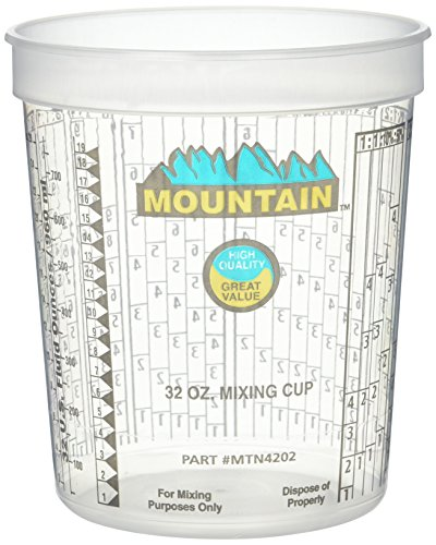 - Mountain MTN4202 Disposable Quart Mixing Cup ((100 per case))