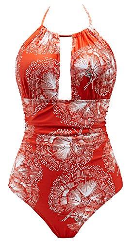 652d0e76481 Eomenie One Piece Swimsuits for Women Slimming Monokini Tummy Control  Swimwear Plus Size Bathing Suits V