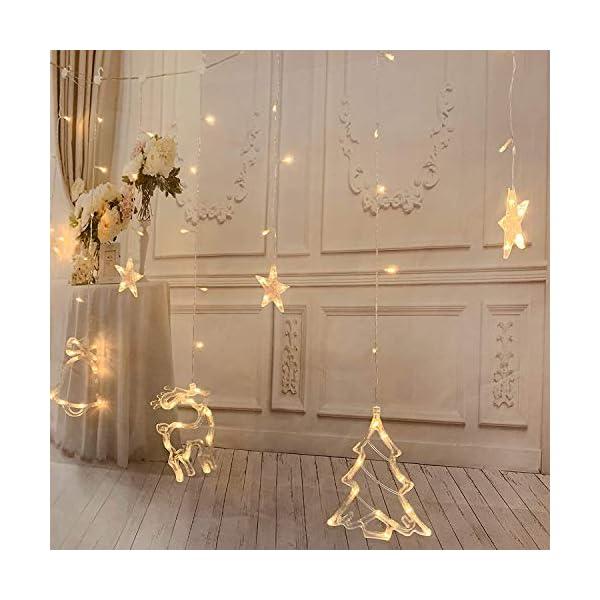 Ghirlanda luminosa con fiocchi di neve. 4 spesavip