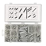Weite 200 Pieces Durable Zinc Plated Steel Compression and Extension Springs Assortment Set for Repairs (Silver)
