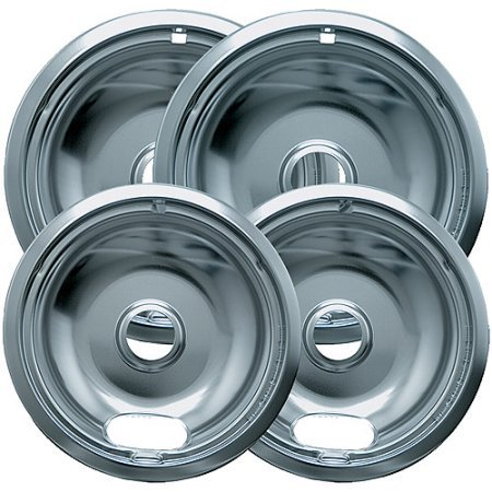 Range Kleen 4-Piece Drip Bowl, Style A fits Plug-In Electric Ranges Amana/Crosley/Frigidaire/Kenmore/Maytag/Whirlpool, Economy Plated (Estate Drip Pans compare prices)