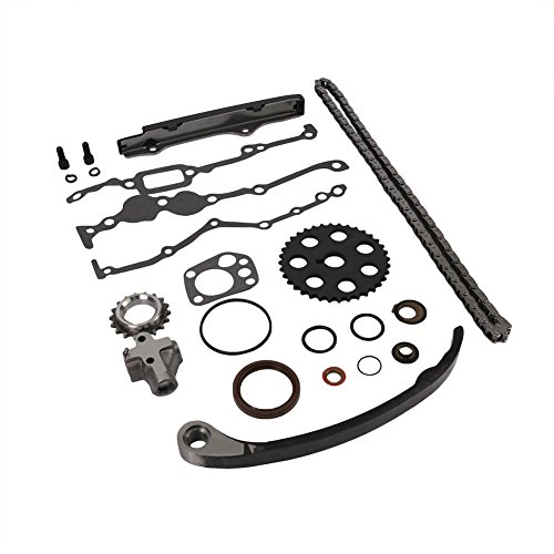 Chain 240sx Timing Nissan - Engine Timing Chain Kit Set Replaces TK3005 for Nissan D21 Pickup Stanza Axxess 240SX 2.4L DOICOO