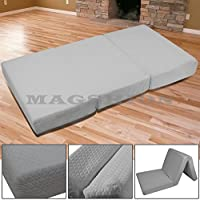 Magshion Memory Foam Mattresses Folding Bed (Full 54'', Dark Grey)
