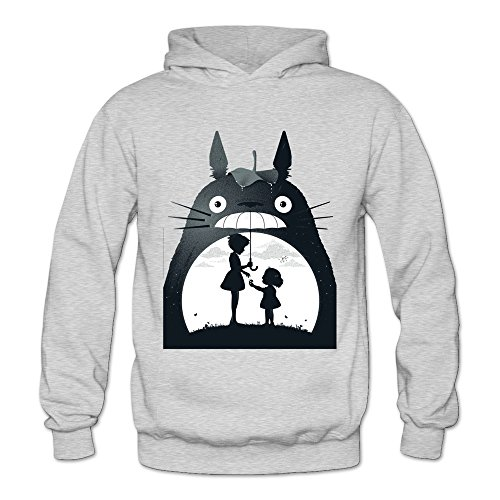 Soulya Women's My Neighbor Totoro Hip Pop Hoodies Sweatshirt Size L US Ash