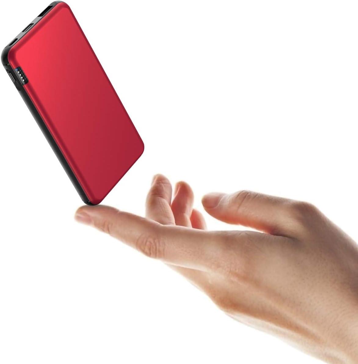 Butcher Powerbank 10000mah Externer Akku Mit 2 4a Ausgängen Usb C Und Micro Eingang Power Bank Mit Alugehäuse Für Handy Iphone Samsung Huawei Ipad Tablet Und Mehr Rot Elektronik