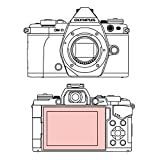 Martin Fields Overlay Plus Screen Protector with Advanced Glass Hard Coating for Olympus OM-D E-M5 Mark II