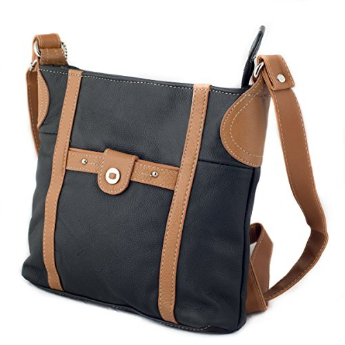 NEW Women Genuine Leather Crossbody Bag Shoulder Organizer Newest Style