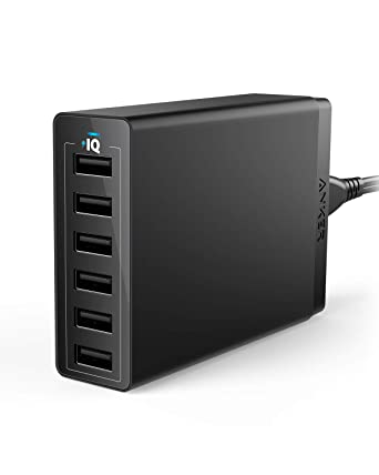 Amazon.com: USB Wall Charger, Anker 60W 6 Port USB Charging ...
