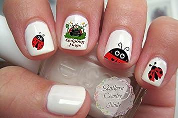 Amazon 100 Ladybug Nail Art Decals Beauty
