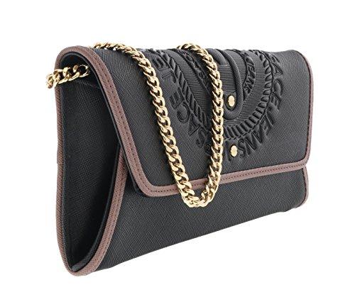 Versace Jeans E3VQBPQ375463 Pochette Donna Pelle Nero - supertech ... af9ad04c79bb3