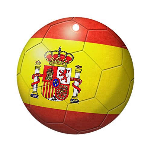 CafePress - Spain Flag Soccer Ball Ornament (Round) - Round Holiday Christmas Ornament by CafePress